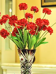 1 1 Ramo Poliéster / Plástico Cravo Flor de Mesa Flores artificiais 29.5*2.7inch/75*7cm