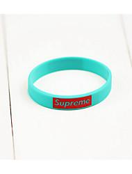 Bracelet Bracelet Hologramme Silicone Forme de Cercle Mode Bijoux Cadeau Noir / Blanc / Bleu,1pc