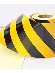 5 centímetros preto e amarelo película reflexiva isolamento supermercado cor afixada fita de advertência reflexivo