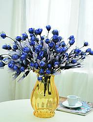 1 Une succursale Polyester Plastique Roses Fleur de Table Fleurs artificielles 40(15.7'')
