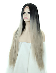 Synthetic Lace Front Wig Ombre Grey Wigs Synthetic Glueless Wigs For Women