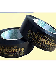 High Viscous Black Pitched Warning Tape Width Of 4.5 Thick 2.5 Packing Tape