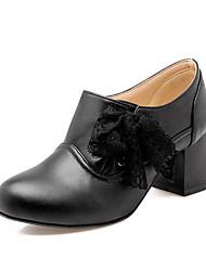 Homme-Extérieure / Bureau & Travail / Décontracté-Noir / Rose / Blanc / Beige-Gros Talon-Talons-Chaussures à Talons-Similicuir