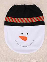 1pc laço do Xmas do boneco assento do vaso sanitário tampa decoração partido fornece o presente do Natal