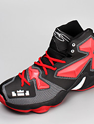 Damen-Sneaker-Outddor Lässig Sportlich-PU-Flacher AbsatzSchwarz Blau Gelb Marineblau Schwarz und Rot