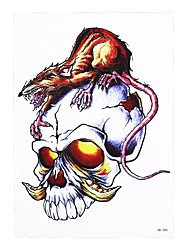 1pc Temporary Tattoo Sticker Women Men Body Arm Art Skull Mouse Bone Pattern Design Waterproof Tattoo Paper HB-380