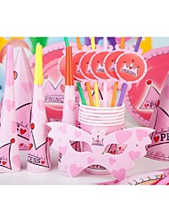 Birthday Party Favors & Gifts-6Piece/Set Horns Tag Hard Card Paper Vegas Theme Cylinder Non-personalised Pink