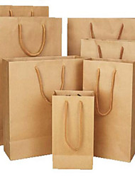 Kraft Paper Bag Generic Packaging Offset Printing Advertising Promotional End Of The Bag Kraft Paper Bags