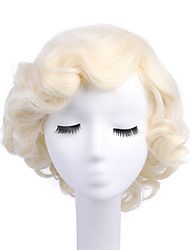 Marilyn Monroe Wig Women Fashion Blonde Synthetic Full Wig Cosplay Hair Wigs