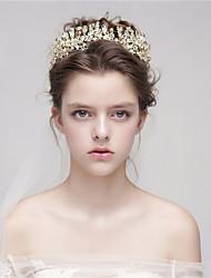 Mujer Aleación Celada-Boda Tiaras 1 Pieza Oro Flor 40