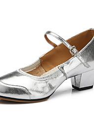 Zapatos de baile(Plata / Oro) -Zapatillas de Baile / Moderno-Personalizables-Tacón Plano