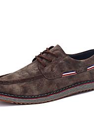 Herren-Sneaker-Lässig-PU-Flacher Absatz-Komfort-Schwarz Braun Gelb