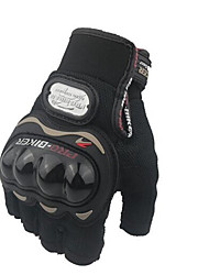 Motorcycle Half Finger Gloves Nontoxic Odorless Water Resistant Breathable Slip Drop Resistance