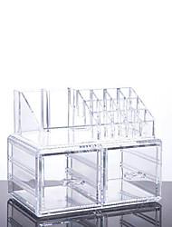 2016 новый портативный прозрачный акриловый косметический ящик организатор макияж кейс держатель storageinsert коробка