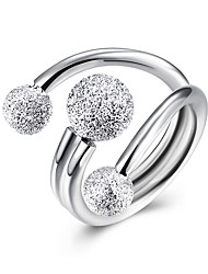 Anéis Sexy / Fashion Casamento / Pesta / Diário / Casual Jóias Prata de Lei Feminino Anéis Statement 1pç,Ajustável Prateado