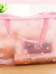sac étanche transparent sac de maquillage de lavage sac de lavage de bain