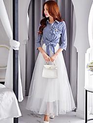 твердые юбки dabuwawa женские, простой / милый / сложный макси