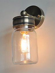 vintage Jar Wall Lights - Creative Wishing Bottle Glass Wall Sconces, Loft Cafe Entry decorative Light Fixture