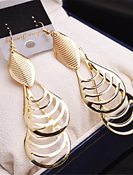 New Fashion Water Drop Earring Women Vintage Gold/Silver Zinc Alloy Long Dangle Earrings brinco Party Jewelry