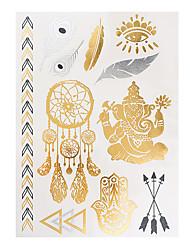 1 Tatouages Autocollants Séries bijoux Non Toxique Motif Imperméable MétalliqueHomme Adulte Tatouage Temporaire Tatouages temporaires