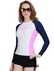 Women Long Sleeve Swimwear Swim Surf Rashguard Shirts Diving Snorkeling Top Wetsuit