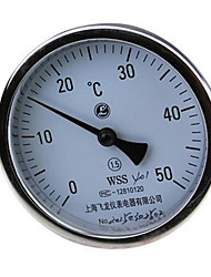Precision Stainless Steel Thermometers Single Axial Bimetallic Thermometer (WSS-401)