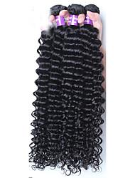 Tejidos Humanos Cabello Cabello Malayo Ondulado Medio 12 meses 3 Piezas los tejidos de pelo