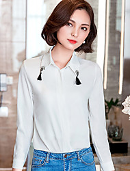 Women's Doll Collar Chiffon Long Sleeve Blouses