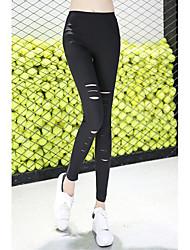 Pantalon Aux femmes Slim simple Spandex Micro-élastique