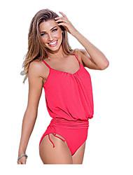 Sportif Femme Maillots de Bain Respirable Bikinis Pompe Cordes Vert Rouge Noir Bleu Vert Rouge Noir Bleu S M L XL XXL XXXL