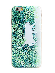 Shockproof / Frosted / Embossed / Pattern Plant Cat TPU Soft  Case Cover For IPhone 6/6s/6plus/6s plus