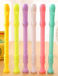 Stationery Mini Clarinet Flute Shape Gel Pen Cartoon Pen (Random Color)