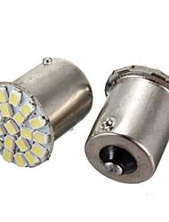 10шт 1156 22smd светодиоды загораются 1206 СМД поворота фара заднего хода автомобиля светодиодные лампы (DC12V)