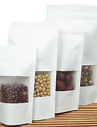 White Kraft Paper Factory Direct Supply Ziplock Bags Dates Walnut Baked Food Bags A Pack Of Ten