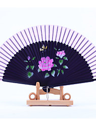 Purple Fan Frame Printing Fan Random Pattern(Set of 1)