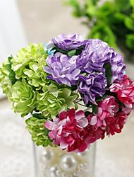 1 1 Ramo Poliéster Cravo Flor de Mesa Flores artificiais 3.9inch/10cm