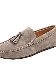 Men's Loafers & Slip-Ons Spring Fall Moccasin PU Casual Flat Heel Tassel Black Khaki Royal Blue