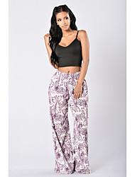 Women's Fashion Popular Print Straight Pants