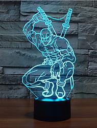 Deadpool érintse fényerő 3d led éjszakai fény 7colorful dekoráció hangulat lámpa újdonság világítás karácsonyi fény