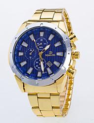 Hombre Reloj de Vestir / Cuarzo Aleación Banda Casual Dorado