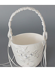 Wedding Flower Basket Ribbons Classic Theme