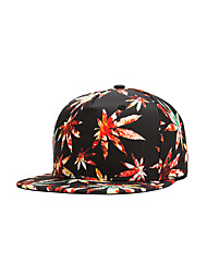 Fashion Women Men Street Dance Weed Leaf Print Adjustable Patchwork 3D Baseball Cap