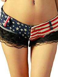 Pantalon Aux femmes Short / Jeans Sexy Coton Micro-élastique