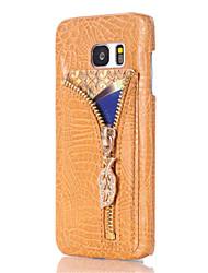 Für Samsung Galaxy Note7 Kreditkartenfächer / Geprägt Hülle Rückseitenabdeckung Hülle Geometrische Muster Hart PU - Leder Samsung Note 7