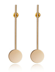 New Fashion Vintage Punk Round Geometric Gold Plated Metal Long Earrings For Women Drop Earring Korean Jewelry