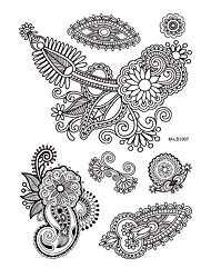 1pc Black Petal Waterproof Tattoo for Woman Body Art Temporary Tattoo Sticker BM-LS1007