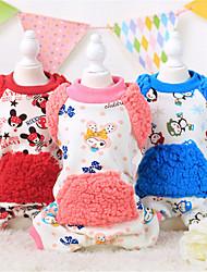 Hunde Pullover Rot / Blau / Rosa Hundekleidung Winter / Frühling/Herbst Blumen / Pflanzen / Buchstabe & Nummer Lässig/Alltäglich Other