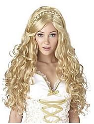 Mujer Pelucas sintéticas Largo Ondulado Grande Rubia Peluca con trenzas Trenzas africanas Peluca de Halloween Peluca de carnaval Peluca