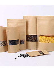 HD Window Kraft Paper Bag Nuts Dry Cargo Self Styled Stand Food Bag