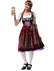 Women's Bavarian  Munich Oktoberfest Crochet Girl Beer Maid Bar Costume